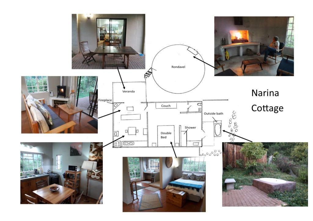 Sketch plan of Narina Cottage